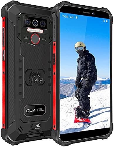 Rugged Smartphone Economici OUKITEL WP5 Pro, Batteria 8000mAh, Display 5.5 Pollici, Otto-core 4GB +64GB Cellulari in Offerte, IP68 Impermeabile Antiurto, Android 10.0, Dual SIM OTG GPS Telefono Nero