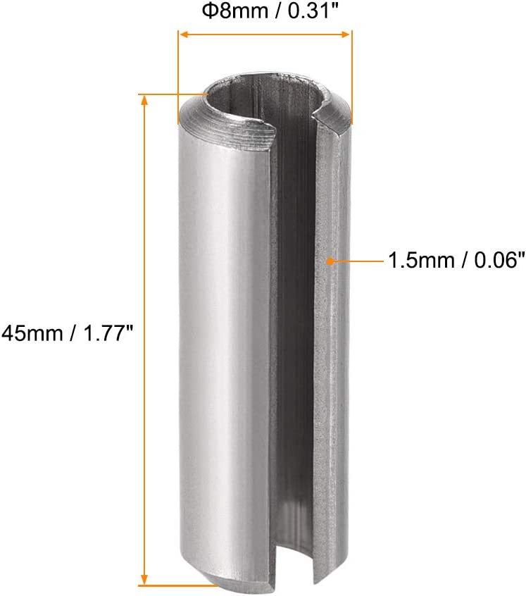 6mm M6 x 24 Stainless Steel Slotted Spring Tension Pins Sellock Roll Pins DIN 1481-5 Pack