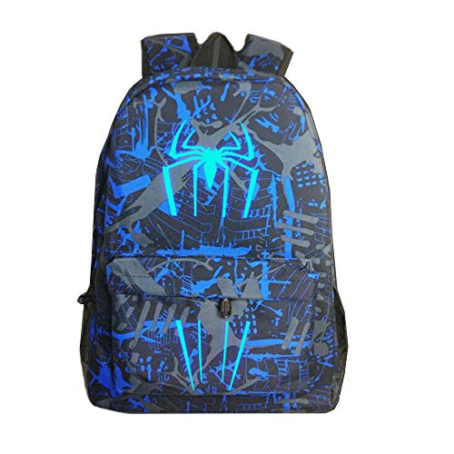 School Bag Noctilucous Luminous Spider Man Backpack Student Bag Notebook Backpack Daily Backpack Glow In The Dark