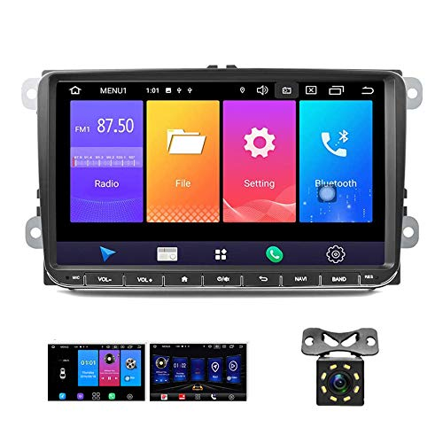 Android 9.0 Autoradio GPS per VW CAMECHO Touch Screen da 9 pollici Supporto SIM Mirror Link Bluetooth FM AM RDS Radio per VW Passat Golf Jetta T5 EOS POLO Touran Seat Sharan