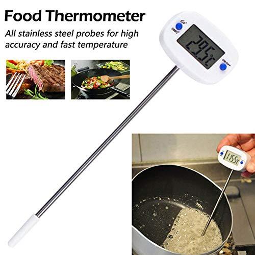QXM roestvrijstalen sonde-thermometer, elektronische digitale grill-temperatuur-test-gereedschap