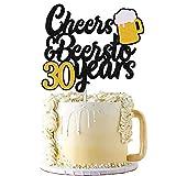 30s Birthday Cake Topper Cheers to 30 Years Decor for Men Women Him Her Happy 30th Birthday Wedding...
