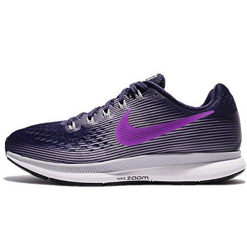 Nike WMNS Air Zoom Pegasus 34, Chaussures de Running Femme, Violet (Ink/Hyper Violet/Provence Purple/Barely Grape/Black/White), 36 EU