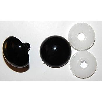 nach EN 71-3 Sicherheitsaugen 3 PAAR BRAUN mit Pupille 10 mm aus Kunststoff