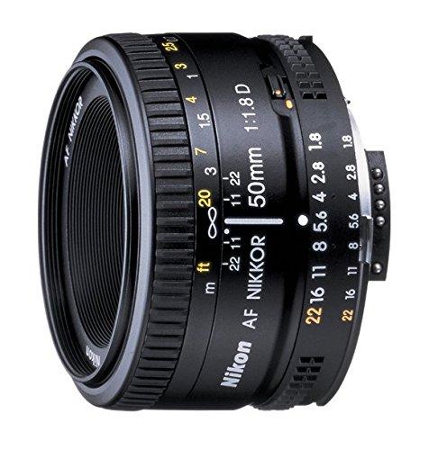 Nikon AF NIKKOR 50mm f/1.8D Negro - Objetivo (6/5, 0,45 m, A