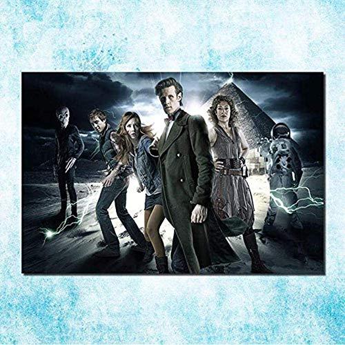GHGXGJ Rompecabezas de Madera Doctor Who Puzzles 1000 Piezas, Rompecabezas Creativo clásico Jigsaws Tardis In Van Gogh Starry Night TV Series Toy