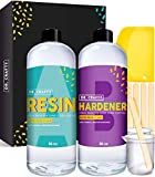 DR CRAFTY Clear Epoxy Resin Kit Art Resin Epoxy Clear Resin 2 Part Epoxy Resin...