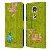 Head Hülle Designs Offizielle The Pink Panther Kommissar Pink Freude Leder Brieftaschen Handyhülle Hülle Huelle kompatibel mit Motorola Moto E5 Plus
