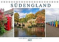 Bezauberndes Suedengland (Tischkalender 2022 DIN A5 quer): Die Fotoreise von Cornwall bis Kent fuehrt entlang bizarrer Kuesten, lieblicher Landschaften und altehrwuerdiger Doerfer. (Monatskalender, 14 Seiten )
