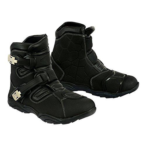 Botas de caña baja de estilo deportivo para moto, con protección y refuerzo. Calzado impermeable de moto para uso mixto carretera/off-road. Para hombre, niño