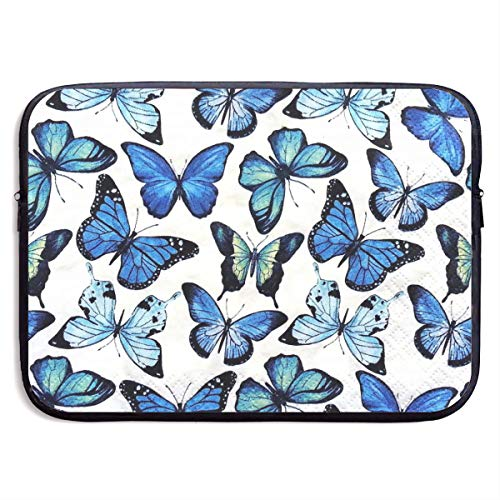 Waterproof Laptop Sleeve 13 Inch, Blue Butterfly Business Briefcase Protective Bag, Computer Case Cover for Ultrabook, MacBook Pro, MacBook Air, Asus, Samsung, Sony, Notebook