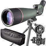 LANDOVE 20-60X80フィールドスコープ スポッティングスコープ 単眼望遠鏡 アーチャリー バードウォッチング 狩猟 鳥観察 天体観測 三脚とスマートフォンアダプター付き