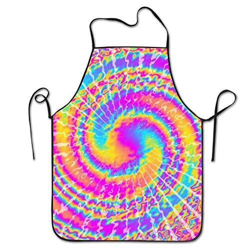 N/A Tie Gekleurd Cool Schort Lichtgewicht Schort Voor Keuken Grill Bestemd Voor Tieners Een Maat Dacron