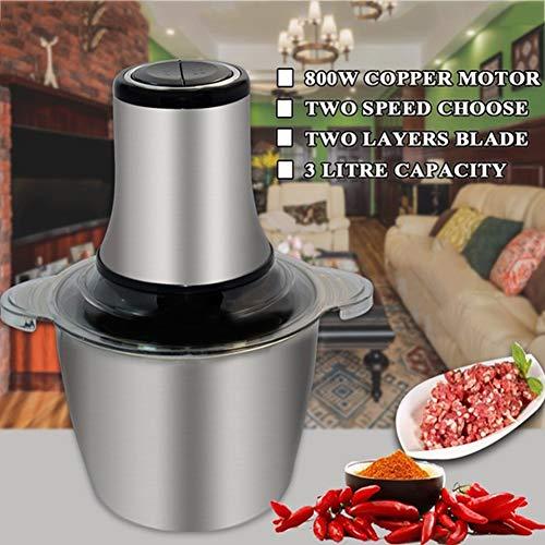 Meat Grinder Electric, Met 3L RVS Bowl Mixer, Multifunctionele Keukenmachine 800W, Voor Vlees, Groenten, Ui, Fruit Knoflook Gehakt Peper Machine