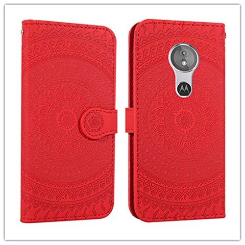 Liaoxig Custodie Sony per Sony Xperia L2 pressato Stampato Modello di Stampa Orizzontale Flip Custodia in Pelle PU con Supporto e Slot per schede e Portafoglio e Cordino Custodie Sony (Colore : Red)