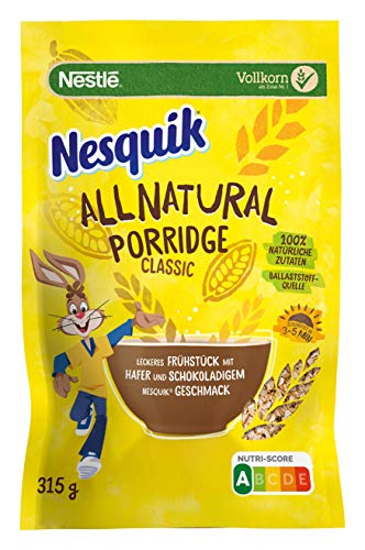 Nestlé NESQUIK All Natural Porridge Classic, 1er Pack (1 x 315g)