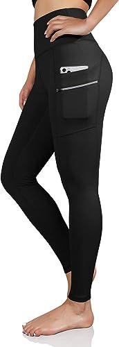 ODODOS Women's High Waisted Full-Length Dual Pockets Workout Leggings, Yoga Running Gym Athletic Leggings