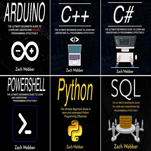 Coding Languages for Absolute Beginners: 6 Books in 1 cover art