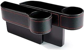 HETUI Auto Seat Gap Catcher Boîte de Rangement Organizer Cup Crevice Pocket Shelf (Noir)