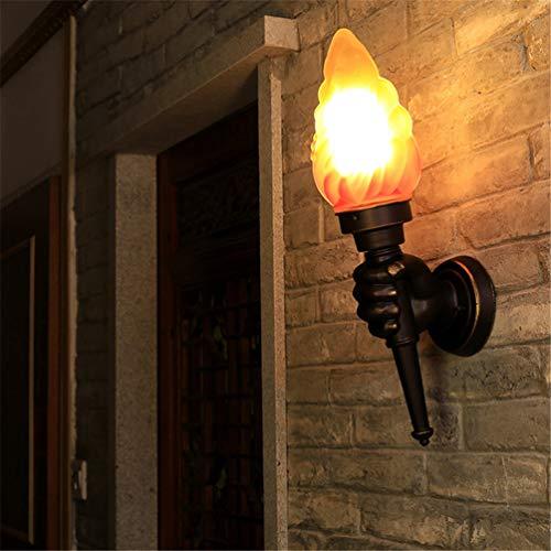 LLY Wall Lamp Lampes Murales Creative Rétro Vintage Torche Main Mur Lumières en Verre Abat-Jour Loft Industrielle Chambre De Chevet Lumières Décoratives E27,Apair