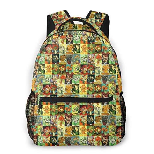 IUBBKI 3D Print V-an Art Go-Gh Casual Backpack,Multifunctional Schoolbag Knapsack Rucksack