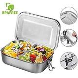 Aiskki Brotdose, Lunchbox Edelstahl, Auslaufsicher Box Mittagessen Mit Unterteilung Stainless Steel...