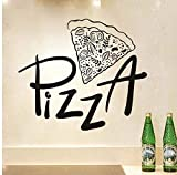 Wanddeko Kinderküche Pizza Wandaufkleber Pizza Restaurant Hotel Pizza Schaufenster Glas Dekoration Hause Kabinett Fliesen Carving Vinyl Wandaufkleber 58 * 67 m