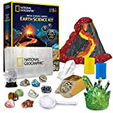 NATIONAL GEOGRAPHIC Earth Science Kit - Mega Science Lab with Over 15 Scientific Experiments and Activities, Teaches the Wonders of Earth Science to Kids, Great Kit for Your Young Scientist,Multi