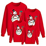 Sudaderas Navideñas Familiares Sudadera Navidad Familia Jersey Navideño Familiar Jerseys Navideños Talla Grande Pullover Jersey Feo Navidad Niño Niña Chica Chico Christmas Jumper Navidad Rojo 130