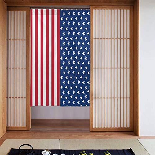 Cyloten The American Flag Doorway Curtain Door Hanging Tapestry Lightweight Partition Door Curtains Privacy Home Decor Window Drapery for Bistro Fitting Room Kitchen Closet