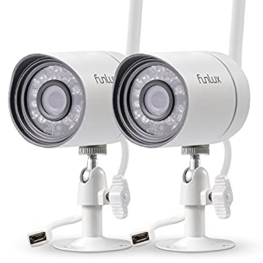 Funlux Wireless 720P HD Outdoor Security Camera Day/Night Video Surveillance Camera (2 Pack)