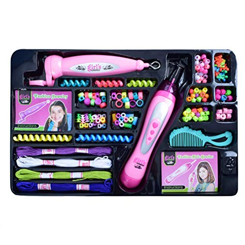 Iwinna Girls DIY Hair Braid Kit Two-In-One Hair Braid Combination Hairdressing Toys for Girls