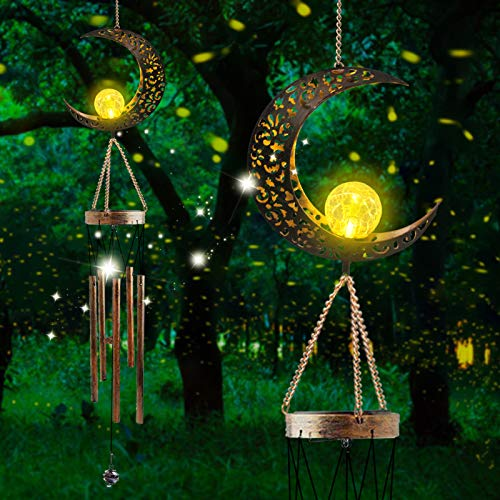 Greenke Solar Wind Chime for Outside, Mother's Day Birthday Gifts for Mom Grandma Friends, Unique Waterproof Musical Windchimes for Garden Patio Outdoor Decoration