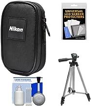 Nikon Coolpix Nylon Digital Camera Carrying Case with Tripod + Kit for S33, S3700, S7000, S9900, AW130, A10, A300, A900, L32, W100, W300