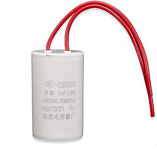 ICQUANZX 4UF CBB60 AC 450V Double Wire Washing Machine Motor Run Small Volume Capacitor