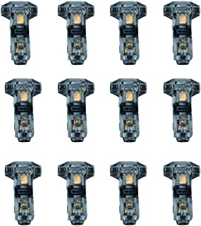 GooChan quick wiring connector, low voltage electronic wire connector, no need to strip (12 Pack 1-pin 1-way T-wire connec...
