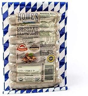 Howe's Uncured Nuremberg Bratwurst IGP (Bavarian Breakfast Links) (7 ounce) - Pack of 3