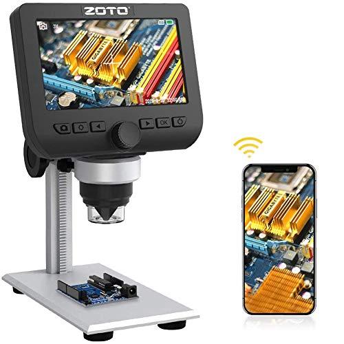ZOTO WiFi & USB LCD Digital-Mikroskop 1000x