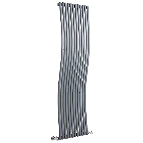 Milano Hudson Reed - Radiateur Design Vertical en Forme de Vague Gris Anthracite 160 x 46cm