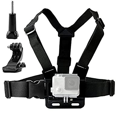 TEKCAM Adjustable Chest Harness Mount with J Hook Compatible with Gopro Hero 7 6/AKASO/Apeman/DBPOWER/WIMIUS/Campark/VanTop/Dragon Touch 4k Action Sports Cameras Accessories (Camera Not Included) by TEKCAM