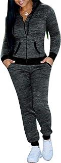 FSSE Women Sweatshirt+Pants Gym Workout Casual Sport Tracksuits Outfits