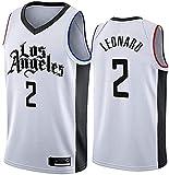 Movement Ropa Jersey para Hombres, NBA Los Angeles Clippers # 2 Kawhi Leonard Basketball Jersey, Camiseta sin Mangas de Malla Transpirable de Tela(Size:/ XXL,Color:G1)