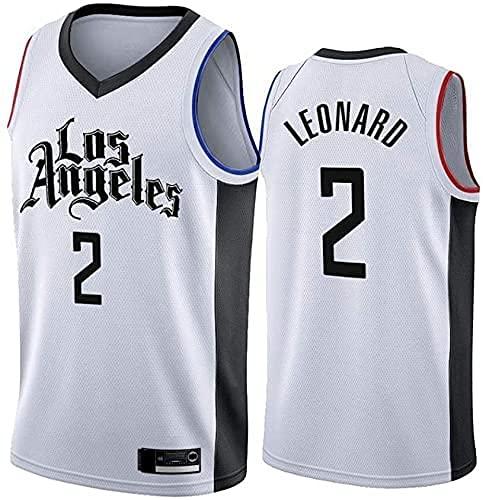 Ropa Jersey para Hombres, NBA Los Angeles Clippers # 2 Kawhi Leonard Basketball Jersey, Camiseta sin Mangas de Malla Transpirable de Tela(Size:/M,Color:G1)