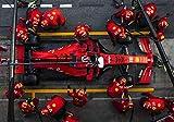 Générique Charles Leclerc F1 Formula 1 Ferrari SF90 Test Pit Stop Catalunya Circuit...