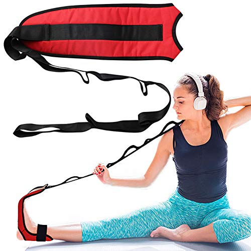Vicabo Foot Stretching Strap, Fitness Foot and Leg Balance Stretch Loops for Plantar Fasciitis, Improve Strength, Balance Stretches and Achilles Tendonitis, Hamstring, Quad, and Calf Pain Relief