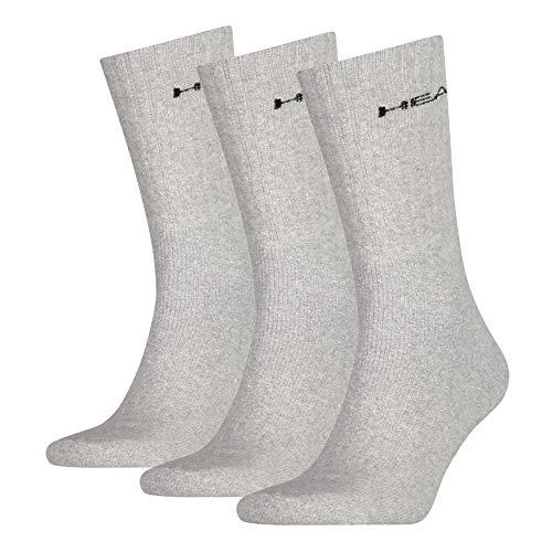HEAD Crew 3P Socken, Unisex, für Erwachsene, Unisex, Socken, 771027001, grau, 043