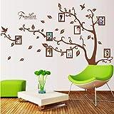 Xqi wangpu Árbol genealógico Grande para Siempre Marco de Fotos Etiqueta de la Pared Sala de Estar Dormitorio Tatuajes de Pared Decoración de la Boda Niños Nursery Poster Mural 160X216cm