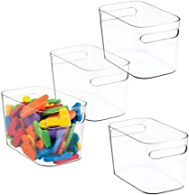 mDesign Plastic Kids Baby Cat Dog Toys Storage Organizers Bins Totes Baskets Action Figures, Crayons, Legos Puzzles Wood B...