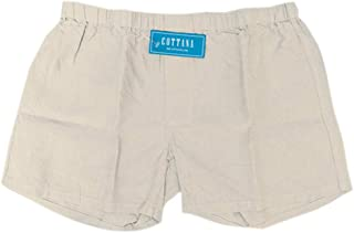 COTTANA 100% Linen Boxer Shorts in Natural Colours Soft Feel Underwear