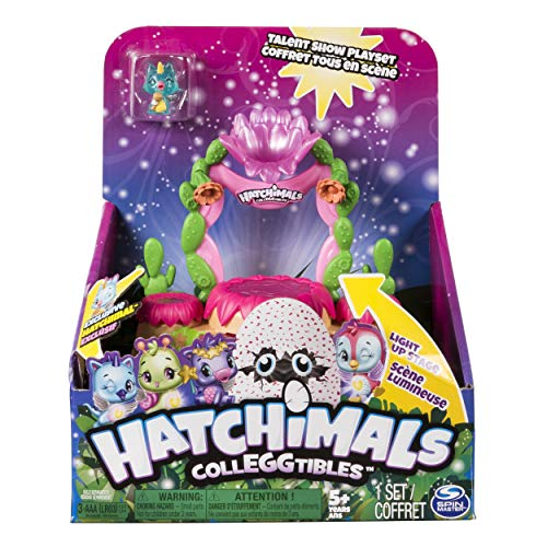 Hatchimals CollEGGtibles Light-up Stage Talent Show Playset - Includes Exclusive Hatchimal - Ages 5+
